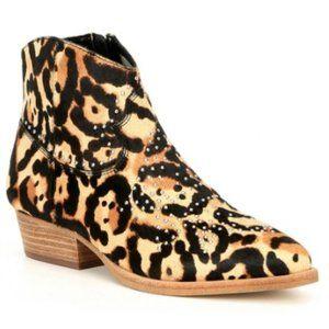 Gianni Bini Brycin Western Leopard Calf Hair Boots